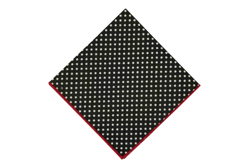 Midnight Dots Cotton Pocket Square