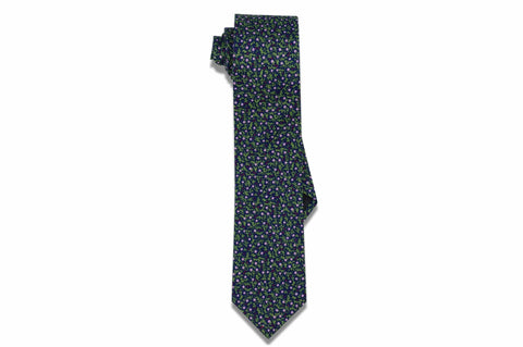 Midnight Floral Cotton Skinny Tie