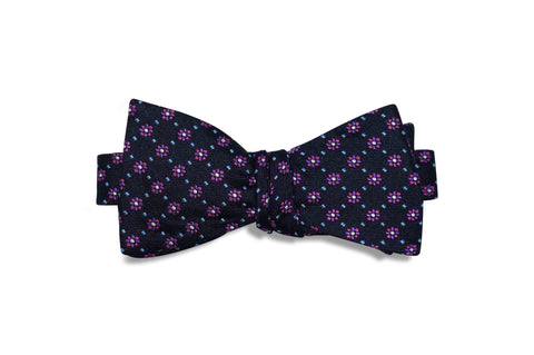 Midnight Flowers Silk Bow Tie (self-tie)