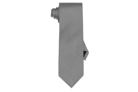 Mini Houndstooth Black Silk Tie