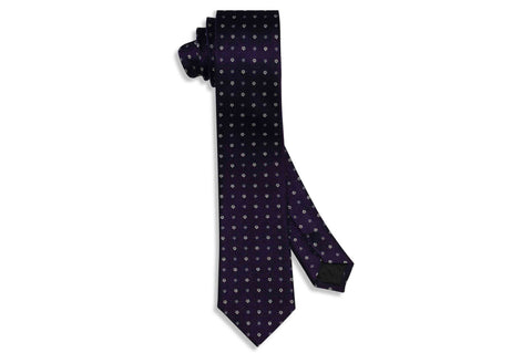Mini Purple Silk Skinny Tie