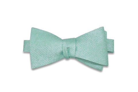 Mint Foam Silk Bow Tie (self-tie)