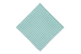 Mint Gingham Cotton Pocket Square