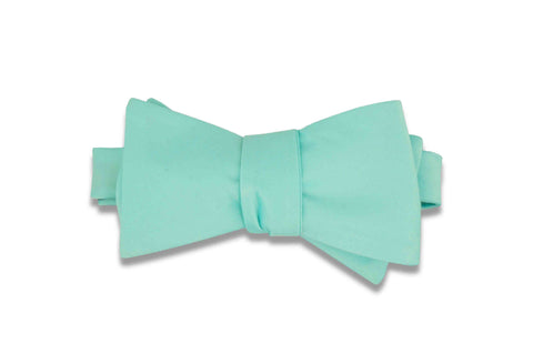 Mint Green Bow Tie (Self-Tie)