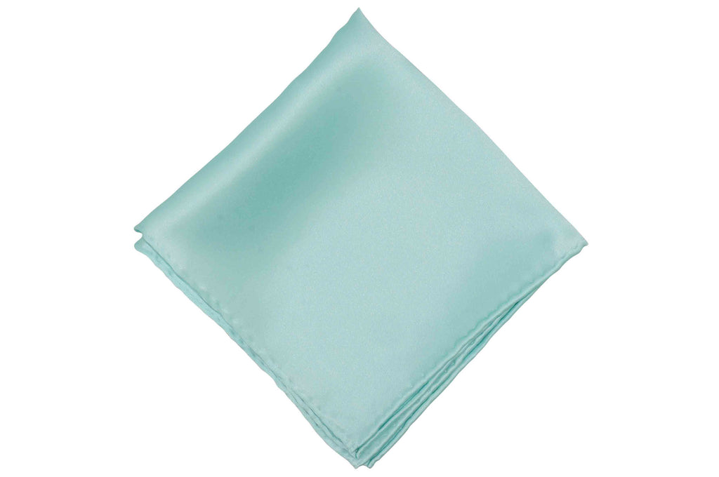 Mint Green Silk Pocket Square