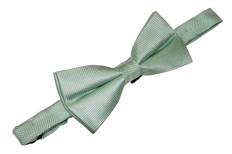 Mint Herringbone Silk Bow Tie (Boys)