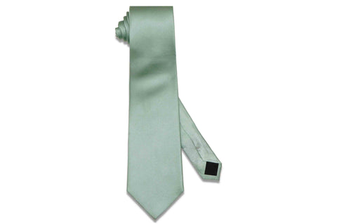 Mint Herringbone Silk Tie