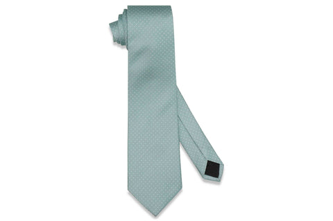 Mint Pin Dots Silk Tie