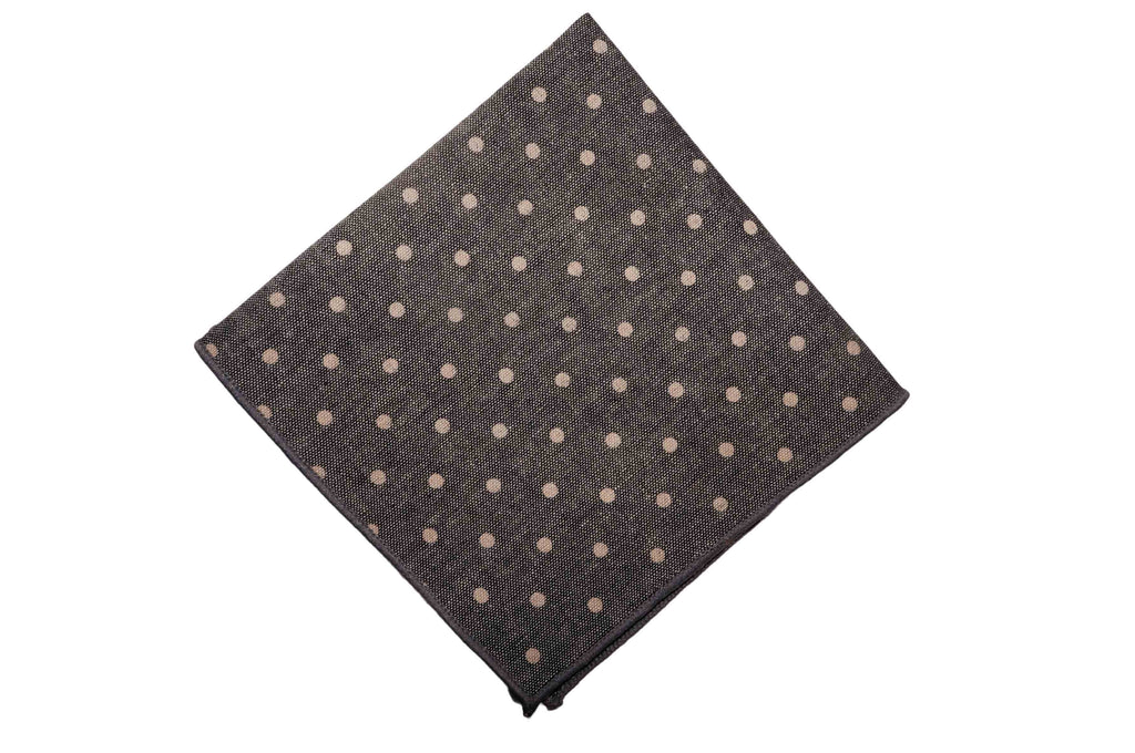 Mist Dotted Cotton Pocket Square