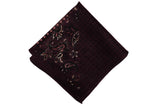 Multi Burgundy Wool Pocket Square