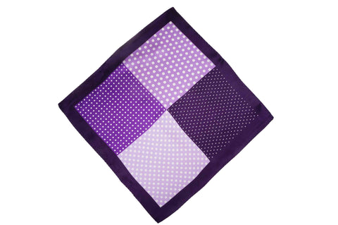 Multi Pattern Dots Silk Pocket Square