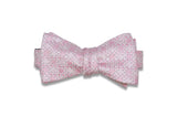 Multi Square Pink Silk Bow Tie (Self-Tie)