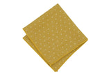 Mustard Dotted Cotton Pocket Square