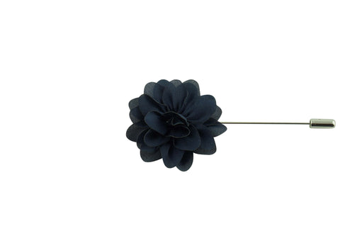 Navy Blue Petal Lapel Flower
