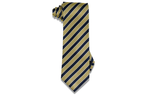 Navy Gold Roads Silk Tie