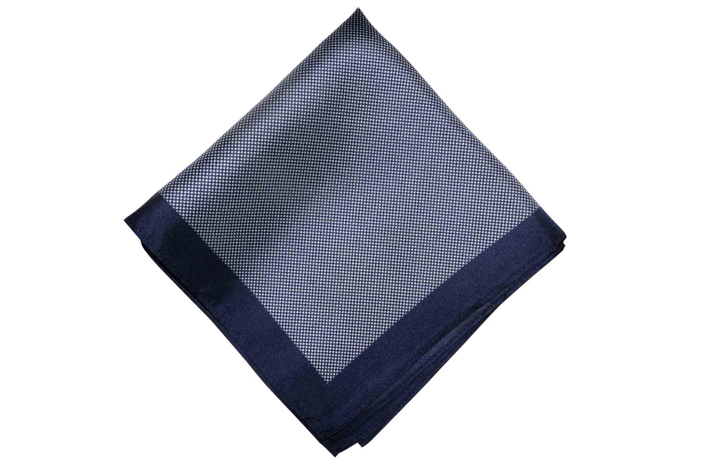 Navy Mesh Silk Pocket Square