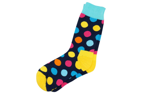 Navy Polka Dot Men's Socks