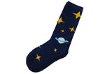 Navy Space Socks Men's Socks