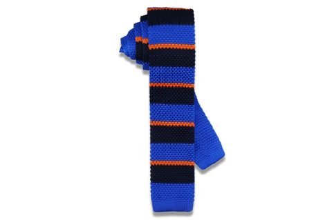 New Yorker Blue Knitted Skinny Tie