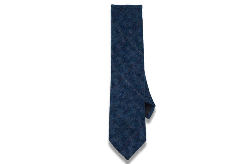 Nice Blues Wool Skinny Tie