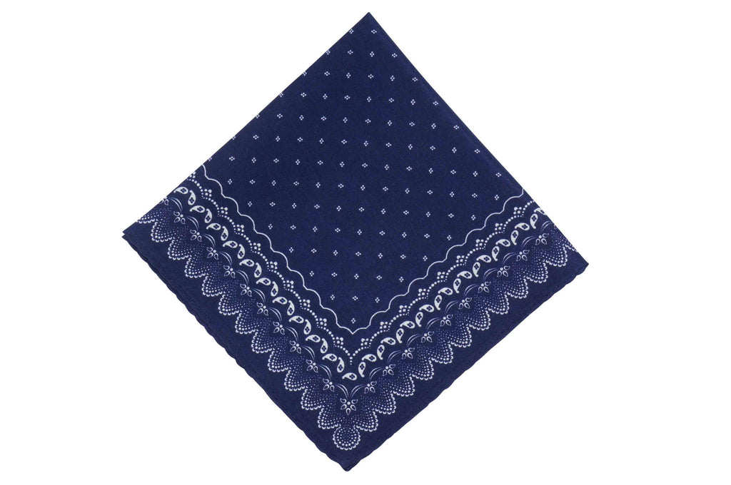 Night Navy Cotton Pocket Square