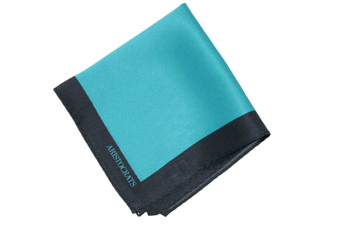 Ocean Blue Silk Pocket Sqare