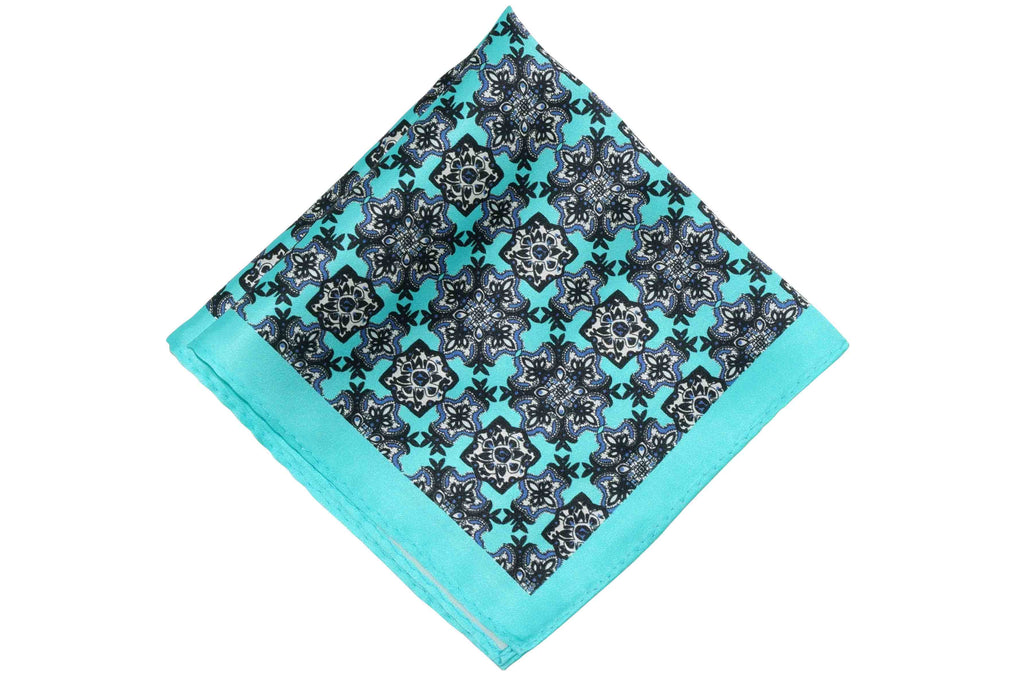 Ocean Trap Silk Pocket Square