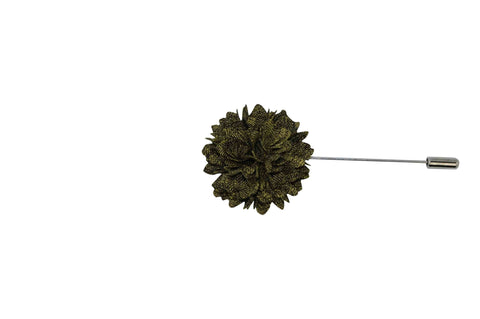 Olive Full Petal Lapel Flower