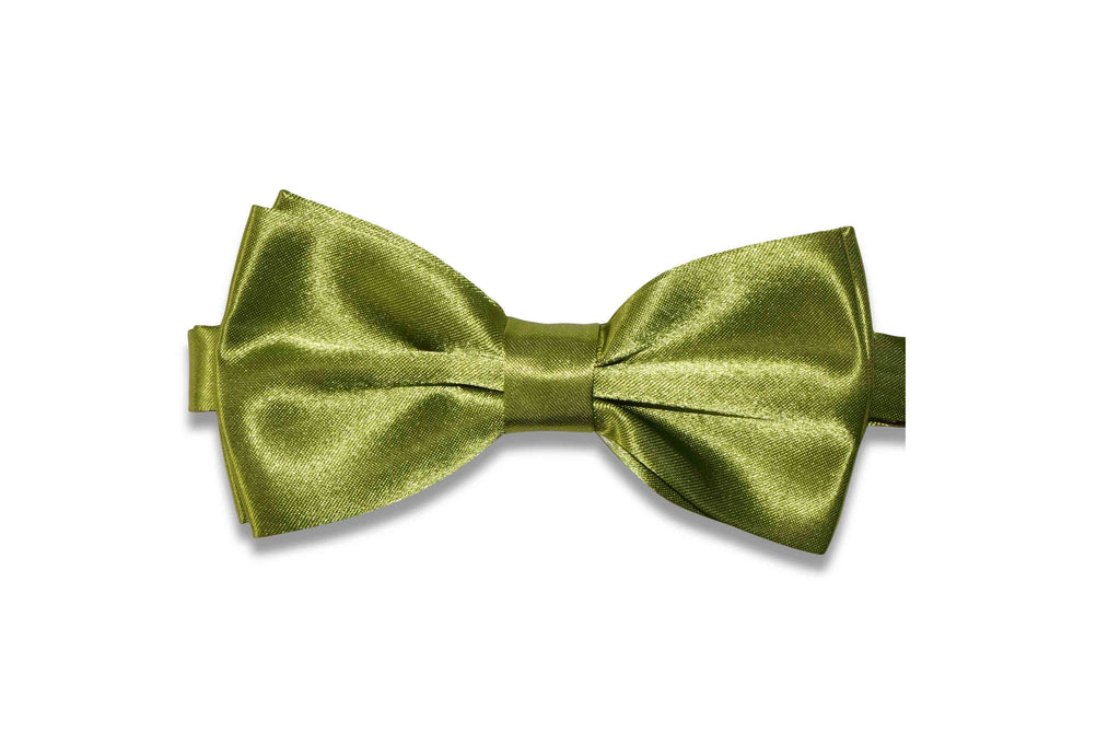 Olive Green Bow Tie (pre-tied)