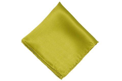 Olive Green Silk Pocket Square