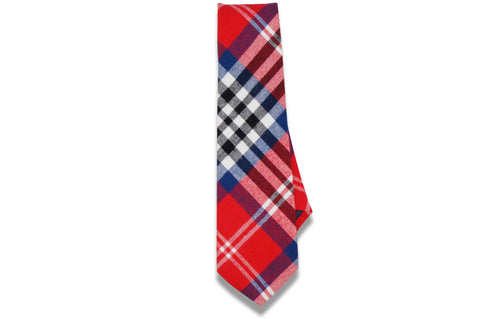 Oliver Plaid Red Cotton Tie