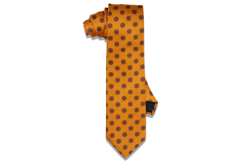 Orange Bloom Silk Tie