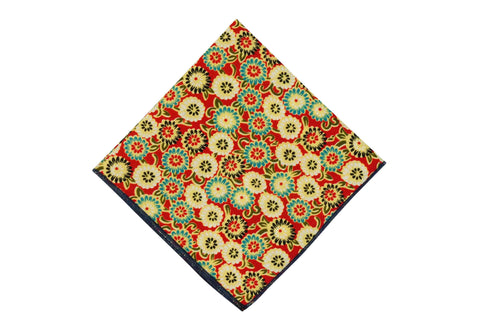 Orange Blossom Cotton Pocket Square