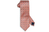 Orange Blue Flowers Silk Tie