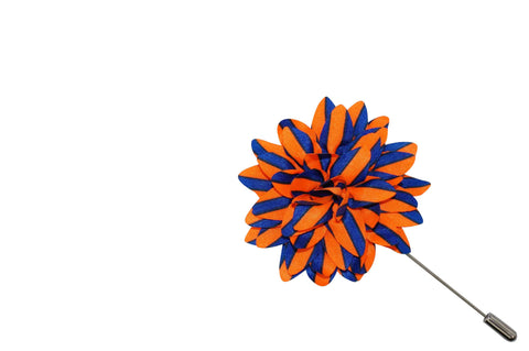 Orange Blue Lapel Flower