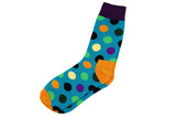 Orange Heel Polka Dot Men's Socks