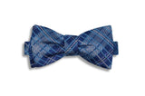 Paisley Blue Reversible Silk Bow Tie (self-tie)