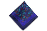Paisley Glow Silk Pocket Square