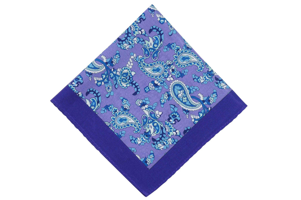 Paisley School Cotton Pocket Square