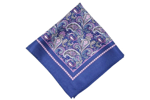 Paisley Works Silk Pocket Square
