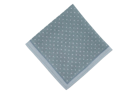 Pale Blue Dots Wool Pocket Square