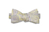 Pale Edge Paisley Silk Bow Tie (self-tie)