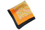 Papaya Garden Silk Pocket Square