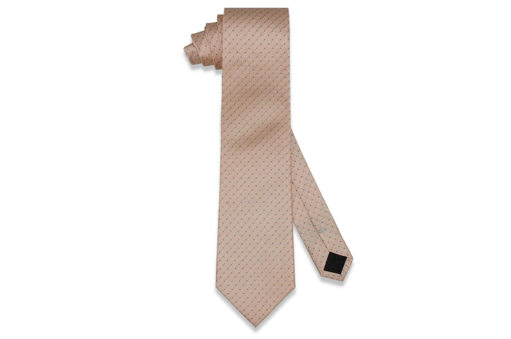 Peach Dotted Silk Tie