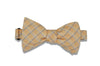 Peach Orange Cotton Bow Tie (self-tie)