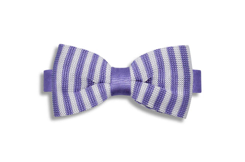 Periwinkle Purple Knitted Bow Tie (pre-tied)