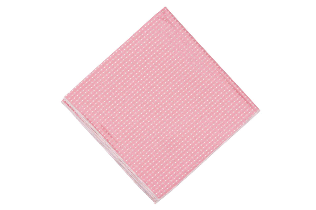 Pink Daisy Dotted Silk Pocket Square
