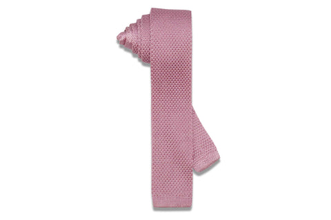 Pink Diamonds Knitted Skinny Tie