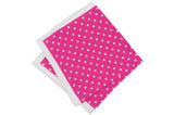 Pink Dots Silk Pocket Square