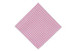 Pink Gingham Cotton Pocket Square